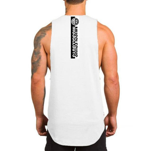 PINkart-USA Online Shopping White / L Muscle Guys Fitness Tank Top Men Bodybuilding Clothing Men Sleeveless Shirt Golds Vests Cotton Gyms