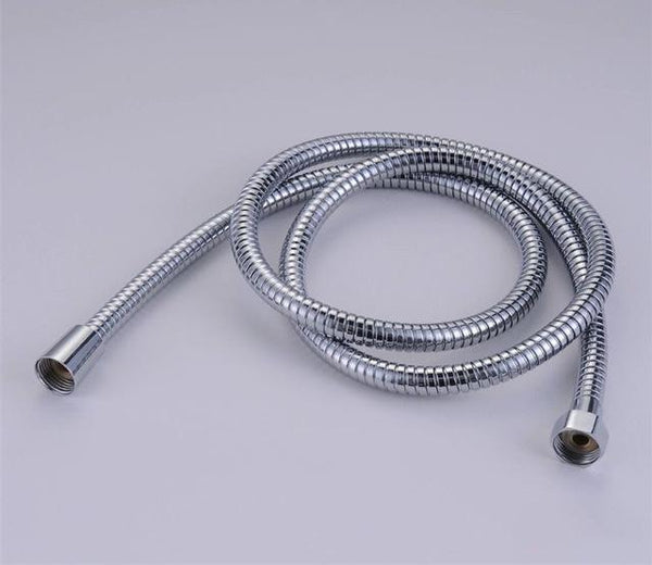 PINkart-USA Online Shopping White Plumbing Hoses Stainless Steel Gold 150Cm Tube Shower Hose Flexible Shower Head Replacement Part