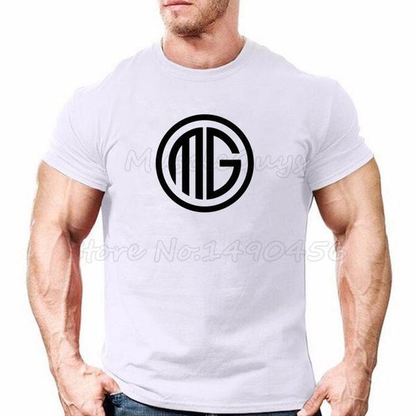 PINkart-USA Online Shopping White / S Muscle Guys Brand Clothing Fitness T Shirt Men Cotton O-Neck T-Shirt Muscle Bodybuilding Tees