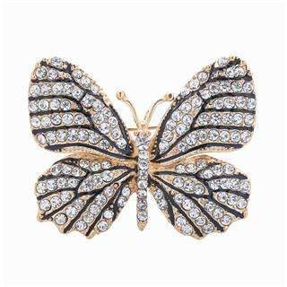 PinKart-USA Online Shopping White Stone Oneckoha Fashion Jewelry Colorful Rhinestone Butterfly Brooches Alloy Enameled Animal Brooch Pin