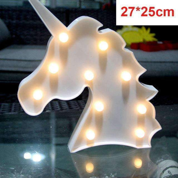 PinKart-USA Online Shopping white unicorn Tronzo Flamingo Led Light Christmas Wedding Decoration For Home Marquee Unicorn Head Pineaapple