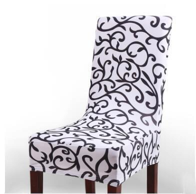 PINkart-USA Online Shopping White / universal Europea Universal Polyester Spandex Stretch Decor Print Chair Cover For Wedding Party Banquet