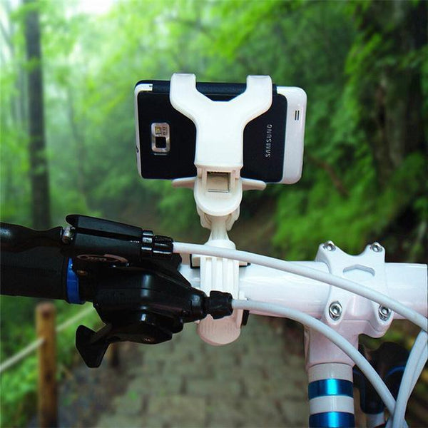 PINkart-USA Online Shopping White Universal Mtb Bike Bicycle Adjustable Phone Mount Holder Bracket Electric Motorcycle Gps Navigation