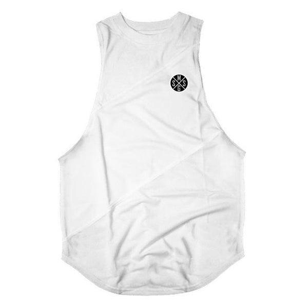 PINkart-USA Online Shopping white vest / L Bodybuilding Stringer Tank Top With Hooded Mens Gyms Clothing Fitness Mens Sleeveless Vests Cotton