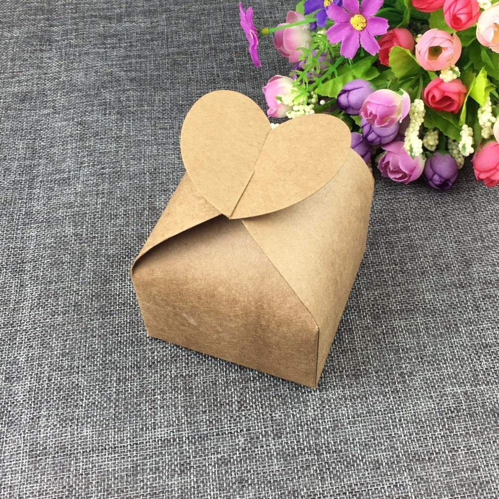 PINkart-USA Online Shopping Wholesale 24Pcs/Lot Heart Shape Kraft Box,Party Box, Cake Box, 8*8*8.5Cm Blank