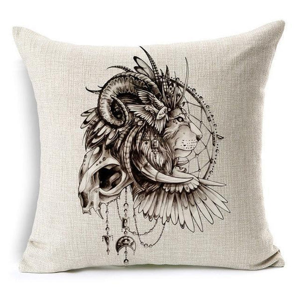 PinKart-USA Online Shopping Wild Animal Decorative Cushion Cover 45X45Cm (18X18In) Elephant Owl Elk Square Throw Pillow Cover