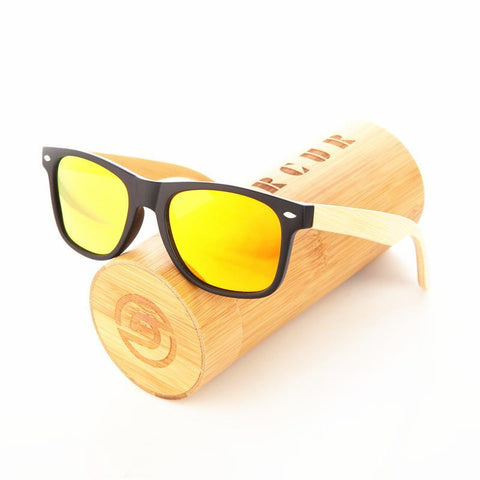 PINkart-USA Online Shopping Wood Sunglasses Spring Hinge Handmade Bamboo Sunglasses Men Wooden Sun Glasses Women