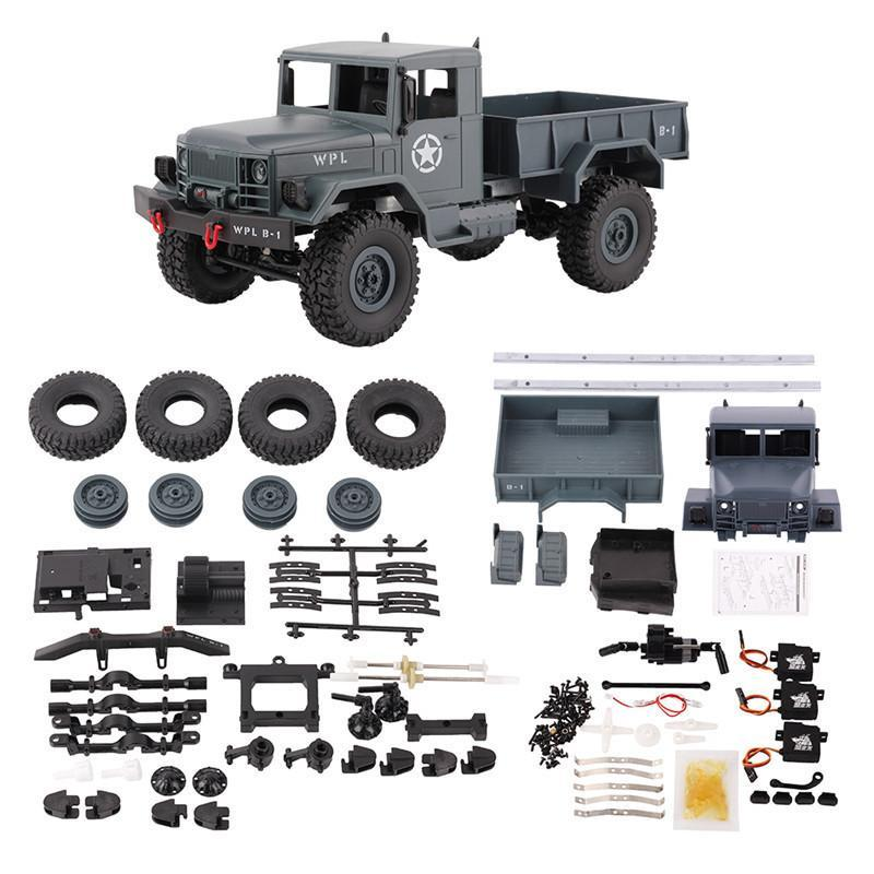 PINkart-USA Online Shopping Wpl B-14K 1:16 Car Kit Remote Control Car 2.4G Rc Military Truck 4Wd Off-Road Car Accessories Diy