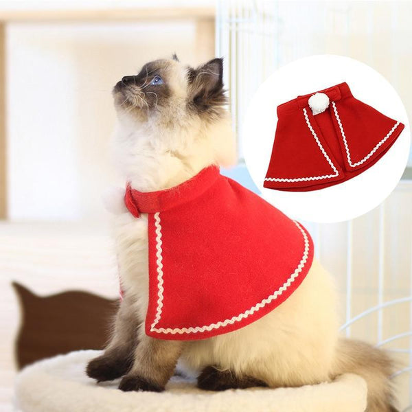 PINkart-USA Online Shopping Xmas Shawl Dog Accessories Red Cloak Suit For Cats Christmas New Year Decorations For Dogs Cat