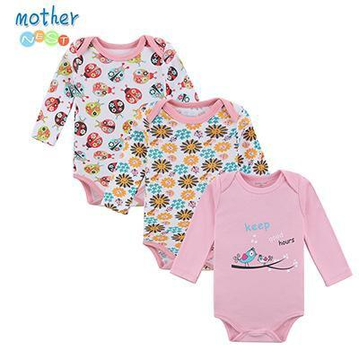 PINkart-USA Online Shopping XTCP16301P / 3M Retail 3 Pieces/Lot Cartoon Style Baby Girl Boy Winter Clothes Born Body Baby Ropa Baby Bodysuit