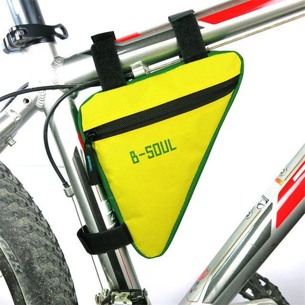 PINkart-USA Online Shopping Yellow B-Soul Triangle Cycling Bike Bicycle Front Tube Bag Frame Pouch Bag Holder Saddle 4 Colors