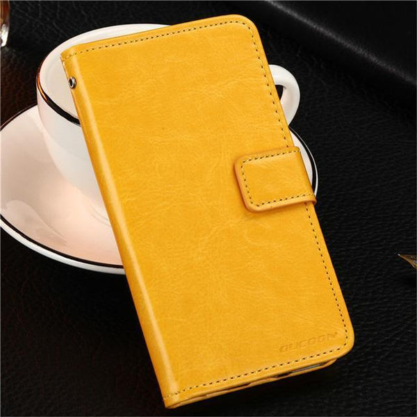 PinKart-USA Online Shopping Yellow Gucoon Vintage Wallet Case For Zopo Speed 7 Plus Zp952 5.2Inch Pu Leather Retro Flip Cover