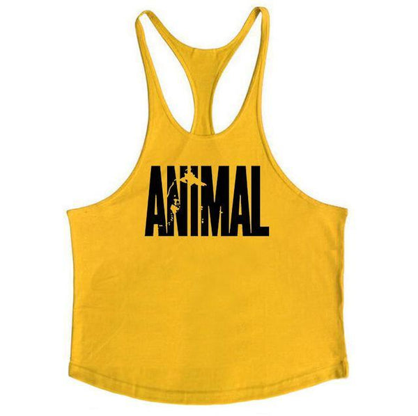PINkart-USA Online Shopping Yellow / L Brand Fitness Animal Gyms Tank Top Men Clothing Bodybuilding Stringer Men Sportwear Shirt Muscle