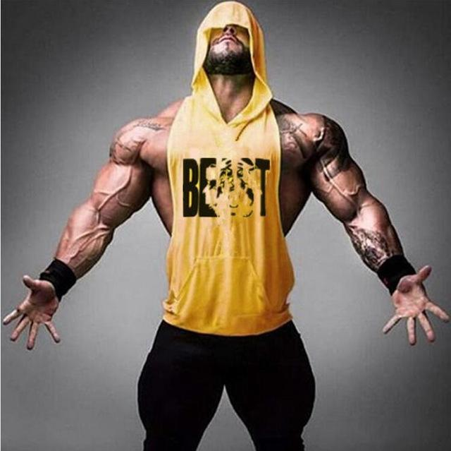 6fd8c1e5e0c3a1 ... PINkart-USA Online Shopping Yellow   M Gyms Clothing Bodybuilding  Stringer Hoodie Tank Top Muscle ...