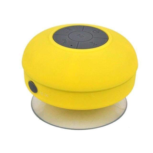 PinKart-USA Online Shopping Yellow Mini Portable Subwoofer Shower Wireless Waterproof Bluetooth Speaker Handsfree Receive Call Music