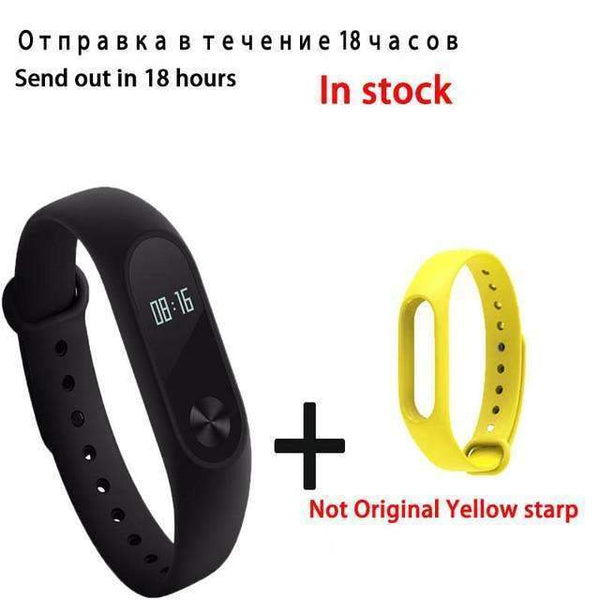 PinKart-USA Online Shopping yellow Original Xiaomi Mi Band 2 Smart Bracelet Wristband Tracker Fitness Mi Band Oled Touchpad Sleep