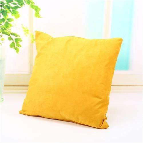 PinKart-USA Online Shopping yellow Pillow Case Solid Suede Nap Cushion Decorative Pillowcase Valentine'S Day Gift Body Pillow Cases