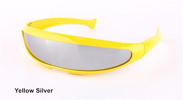 PINkart-USA Online Shopping Yellow Silver Xmen Men Women Sunglasses X-Men Personality Laser Glasses Cool Robots Sun Glasses Driving