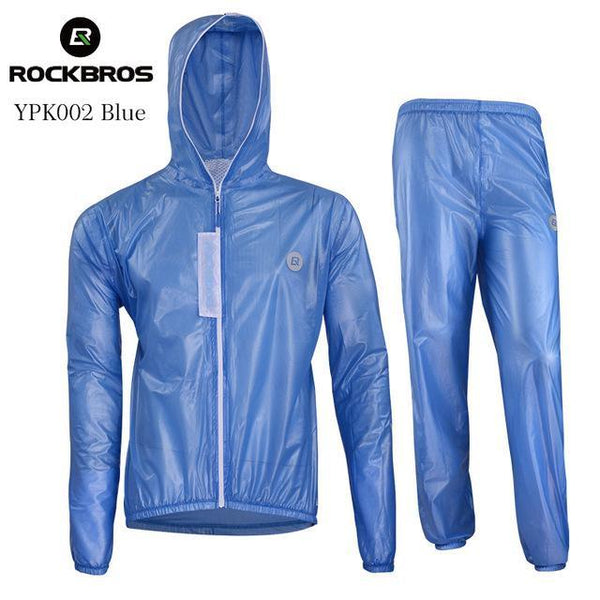PinKart-USA Online Shopping YPK002 Blue Set / S Waterproof Cycling Sets Raincoat Breathable Mtb Riding Motocross Bike Jersey Anti-Sweat