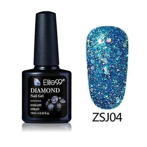 PinKart-USA Online Shopping ZSJ04 Elite99 10Ml Diamond Nail Gel Glitter Uv Gel Polish Manicure Led Sequins Gel Nail Soak Off Gel