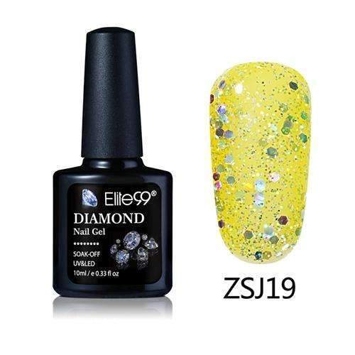 PinKart-USA Online Shopping ZSJ19 Elite99 10Ml Diamond Nail Gel Glitter Uv Gel Polish Manicure Led Sequins Gel Nail Soak Off Gel