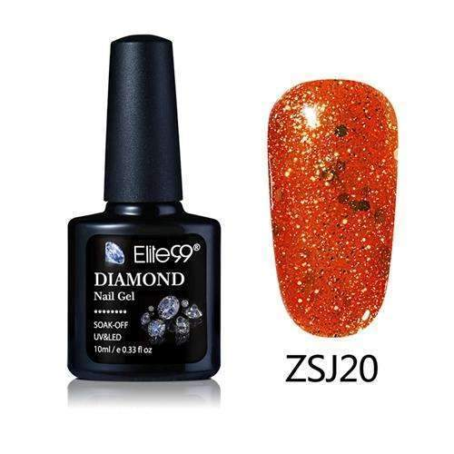 PinKart-USA Online Shopping ZSJ20 Elite99 10Ml Diamond Nail Gel Glitter Uv Gel Polish Manicure Led Sequins Gel Nail Soak Off Gel