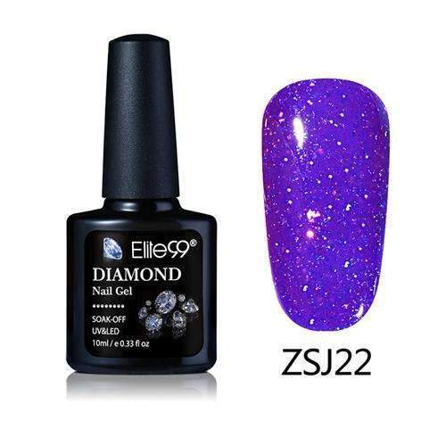 PinKart-USA Online Shopping ZSJ22 Elite99 10Ml Diamond Nail Gel Glitter Uv Gel Polish Manicure Led Sequins Gel Nail Soak Off Gel