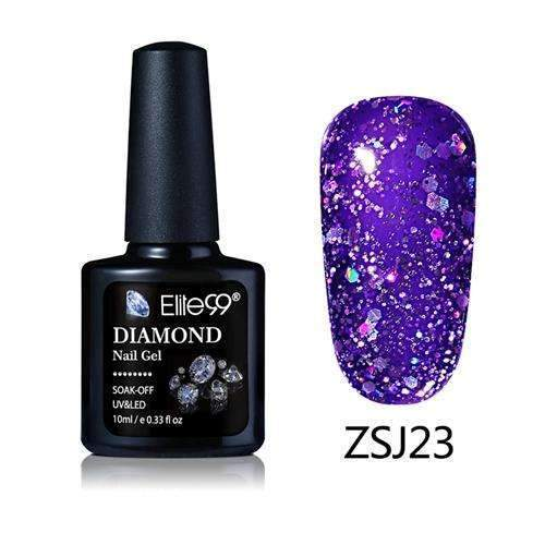 PinKart-USA Online Shopping ZSJ23 Elite99 10Ml Diamond Nail Gel Glitter Uv Gel Polish Manicure Led Sequins Gel Nail Soak Off Gel