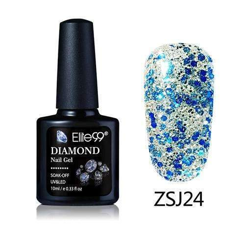 PinKart-USA Online Shopping ZSJ24 Elite99 10Ml Diamond Nail Gel Glitter Uv Gel Polish Manicure Led Sequins Gel Nail Soak Off Gel