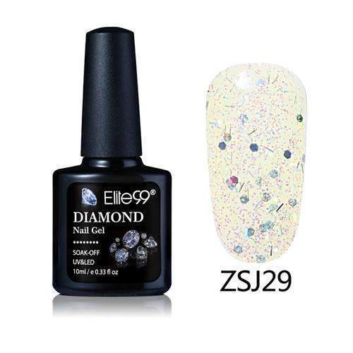PinKart-USA Online Shopping ZSJ29 Elite99 10Ml Diamond Nail Gel Glitter Uv Gel Polish Manicure Led Sequins Gel Nail Soak Off Gel