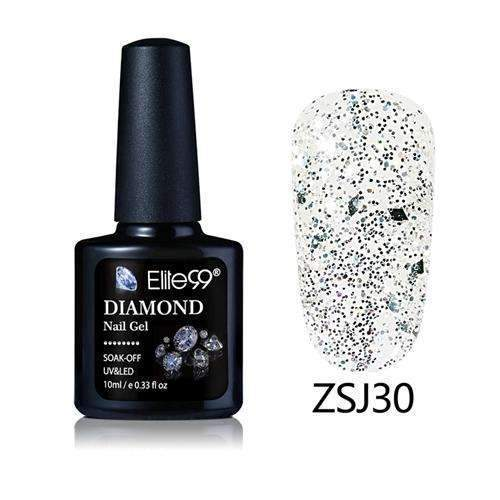 PinKart-USA Online Shopping ZSJ30 Elite99 10Ml Diamond Nail Gel Glitter Uv Gel Polish Manicure Led Sequins Gel Nail Soak Off Gel