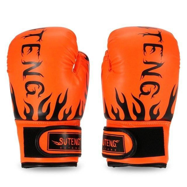 PINkart-USA Orange Boxing Gloves For Children Breathable Safety Boxing Training Leather Gloves For Child Fitness