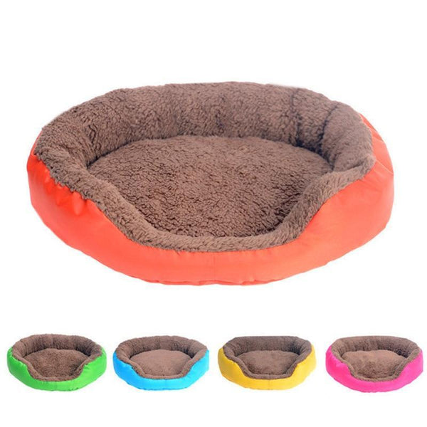 PINkart-USA Orange / L 4 Colors Pet Dog Bed Winter Warm Dog House For Small Large Dogs Soft Pet N Kennel Cat Sofa Mat