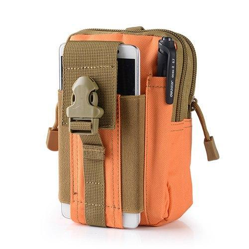 PINkart-USA Orange Outdoor Camping Hunting Accessory 600D Tactical Waist Bag Pouch Military Waist Belt Wallet Sport