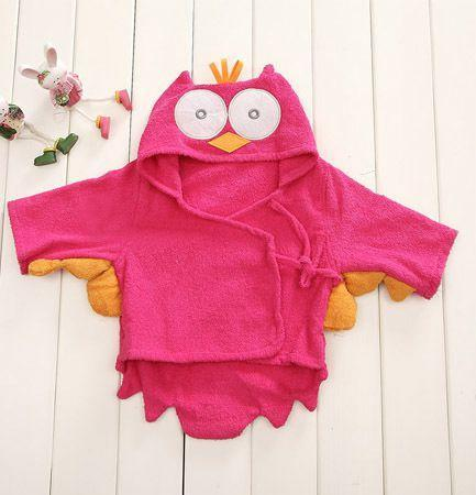PINkart-USA owl 1 / 9M Infant Animal Modeling Of Home Service Cotton Hooded Bathrobes Children'S Various Shapes Of Animals