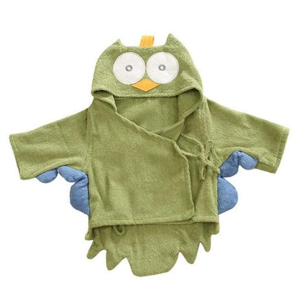 PINkart-USA owl / 9M Infant Animal Modeling Of Home Service Cotton Hooded Bathrobes Children'S Various Shapes Of Animals