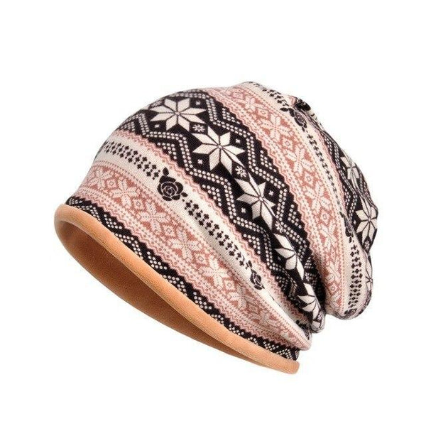 PINkart-USA P Outdoor Windproof Earmuff Cap Scarf Women Simple Style Printed Windproof Thermal Stretch Hat Neck