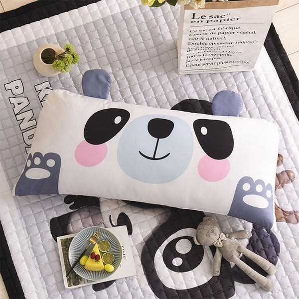 PINkart-USA panda / 50x110cm 20x44in Cartoon Children'S Big Pillow Living Room Bedroom Large Cushions Home Bedside Decor Back Pillows