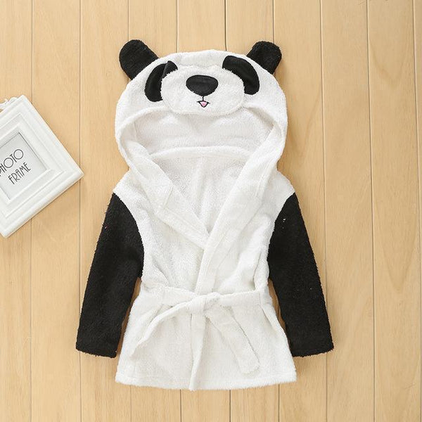 PINkart-USA panda / 9M Infant Animal Modeling Of Home Service Cotton Hooded Bathrobes Children'S Various Shapes Of Animals