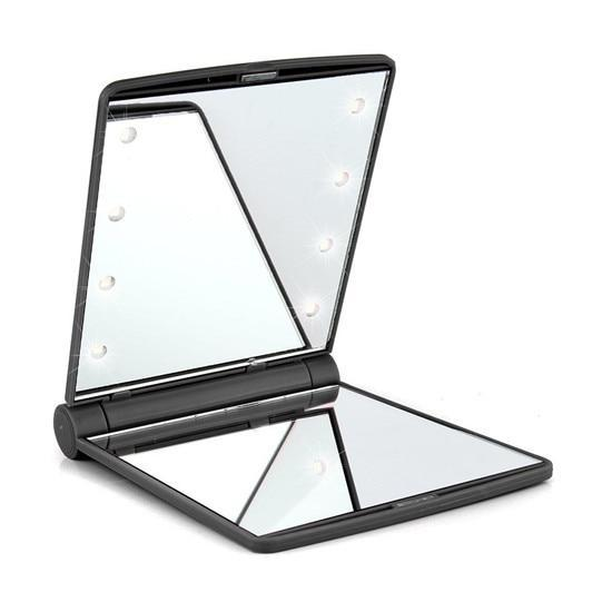Makeup Mirror With 16 Leds Cosmetic Mirror With Touch Dimmer Switch Battery Operated Stand For