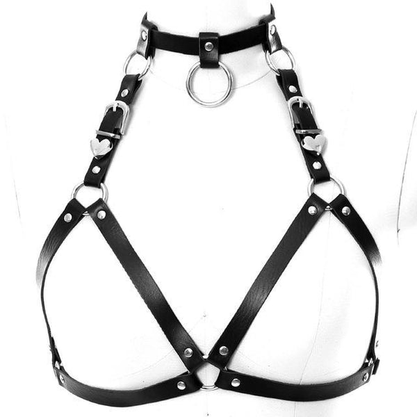 PINkart-USA PG0018 Women Leather Harness Belt Body Bondage Adjust Cage Bra Lingerie Harajuku Goth Dance Party Club