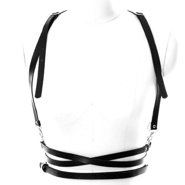 PINkart-USA PG0027 Women Leather Harness Belt Body Bondage Adjust Cage Bra Lingerie Harajuku Goth Dance Party Club
