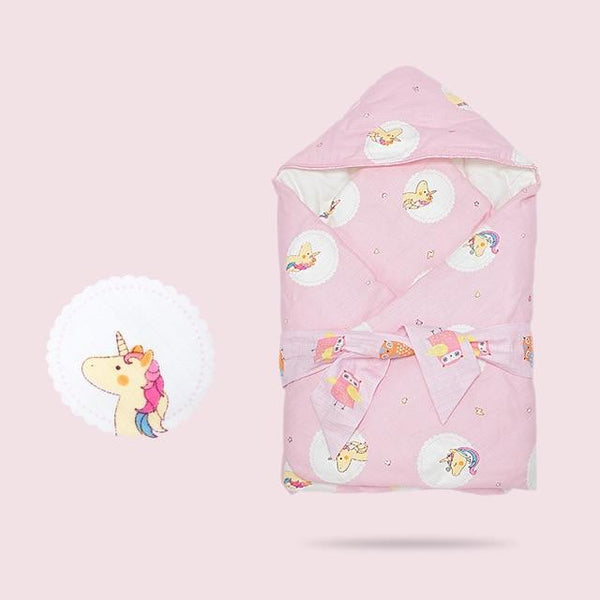 PINkart-USA Pinik Unicorn Winter Discharge Envelope For Borns Cotton Baby Sleeping Bag Thick Cocoon For Infant Warm