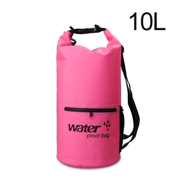 PINkart-USA Pink 10L Pvc 5L 10L 20L Outdoor Waterproof Bag Dry Bag Swimming Bag Sack Storage For Travelling Rafting