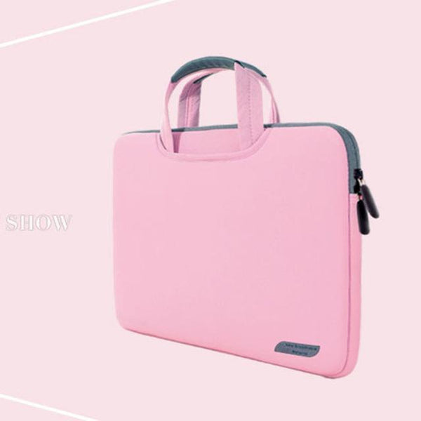 PINkart-USA Pink / 12-inch Dowswin Laptop Bag 13 15 Inch Notebook Sleeve Bag Business Handbag For Macbook Air 13 Case Bag