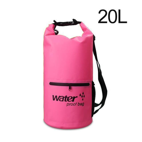 PINkart-USA Pink 20L Pvc 5L 10L 20L Outdoor Waterproof Bag Dry Bag Swimming Bag Sack Storage For Travelling Rafting