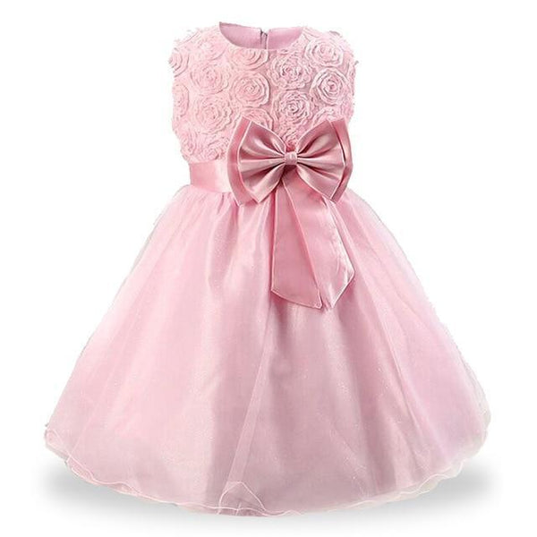 PINkart-USA pink / 3T Kids Girls Flower Dresses Christmas Party Dress 2 3 4 5 6 7 8 9 10 Year Birthday Outfits Dresses