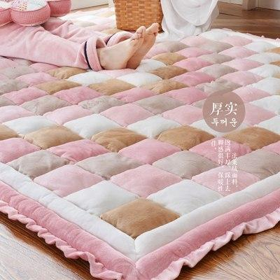 PINkart-USA Pink / 600mm x 1600mm 40Mm Thickness Short Plush Carpet Bedroom Full Of Rectangular Bedside Mat Tatami Home Soft