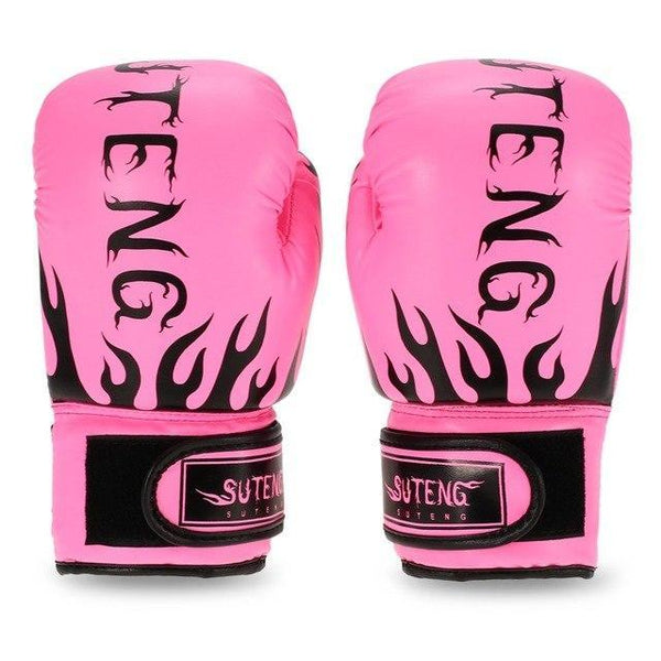 PINkart-USA Pink Boxing Gloves For Children Breathable Safety Boxing Training Leather Gloves For Child Fitness