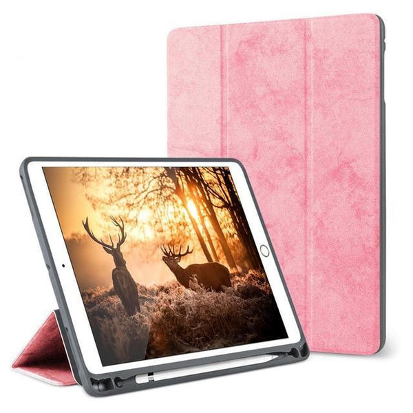 PINkart-USA pink / China For iPad Pro 10.5 Case with Pencil Holder for iPad Air 3 2019 Case Funda, GOOJODOQ Smart Cover for iPad Air 3 10.5 Case  2017